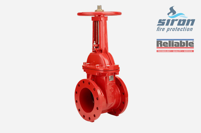 SIRON Fire Protection Valves Gate Valve rasco resilient seated300psi os&y flanged