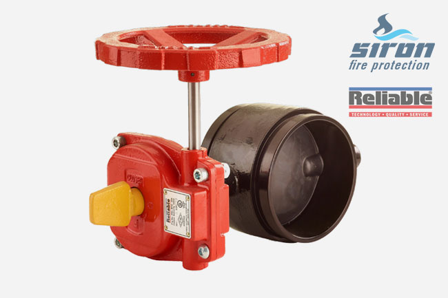 SIRON Fire Protection Grooved Butterfly Valve rasco fm ul Butterfly Valve rel 300 bfg w