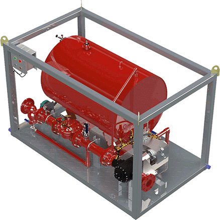 siron fire protection diffs system skid ms serie skid 01
