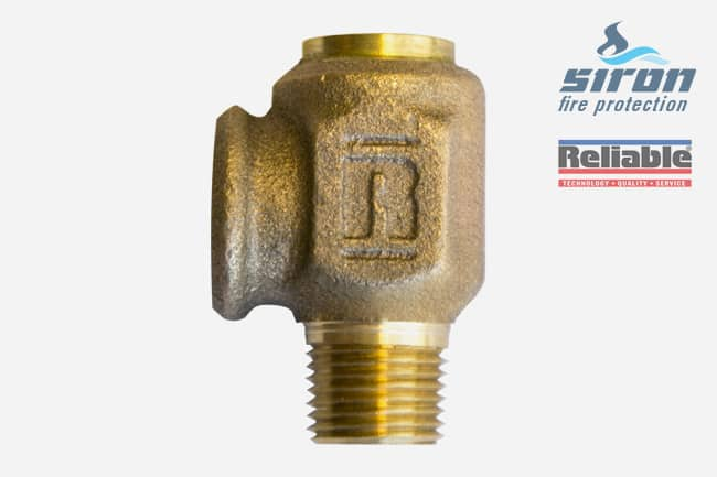 siron fire protection valves relief valve model a