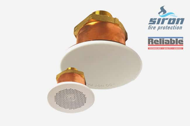 siron fire protection concealed sprinklers g6 56 hsw qr